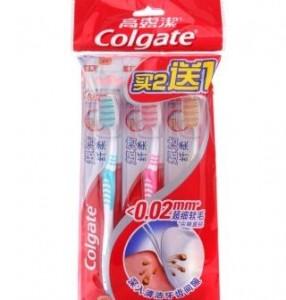 高露洁超洁纤柔牙刷-三支装-软毛
